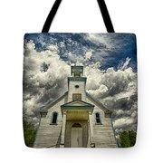 The Squaw Bay Church Tote Bag by Jakub Sisak