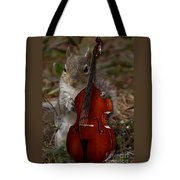 The Squirrel And His Double Bass Tote Bag
