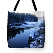The St. Croix River In December Tote Bag