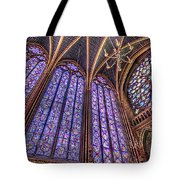 The Stained Glass Of La Sainte-chapelle Tote Bag
