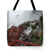 The Stairs To The Cave Of The Winds - Niagara Falls Tote Bag
