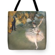 The Star Or Dancer On The Stage Tote Bag