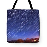 The Star Trail In Ithaca Tote Bag