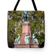 The Statue Of Istvan Szechenyi In Budapest Tote Bag
