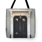 The Stockade Door In Schenectady New York Tote Bag by Lisa Russo