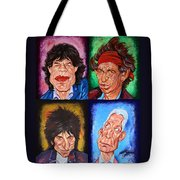 The Rolling Stones Tote Bag by Dan Haraga