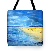 The Storm Arrives At The Beach Tote Bag