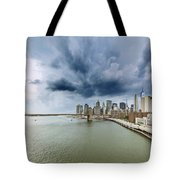 The Storm Over Manhattan Downtown Tote Bag