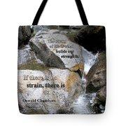 The Strain Of Life... - Yosemite Tote Bag