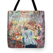 The Street Enters The House Tote Bag by Umberto Boccioni