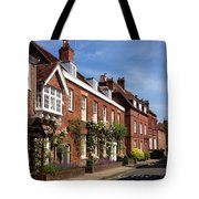The Streets Of Winchester England Tote Bag