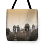 The Suleymaniye Mosque And New Mosque In The Backround Tote Bag