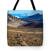 The Summit Of Haleakala Volcano In Maui. Tote Bag