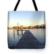 The Sun Begins To Set On Long Beach Island Tote Bag