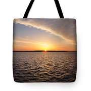 The Sun Coming Up On The Chesapeake Tote Bag