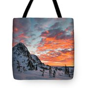 The Sun Rises, Illuminating The Sky Tote Bag