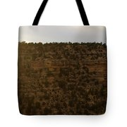 The Sun Sets Behind The Canyon Tote Bag