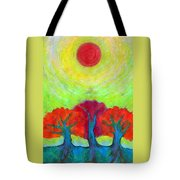 The Sun Three Tote Bag
