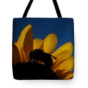 The Sunflower And The Bee Tote Bag