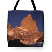 The Sunrise Of Fire Mt Fitzroy Tote Bag
