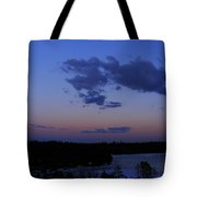 The Sunset Moon In Winter Tote Bag