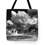 The Superstitions - Black And White  Tote Bag