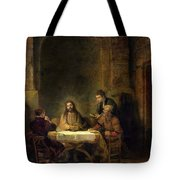 The Supper At Emmaus, 1648 Oil On Panel Tote Bag