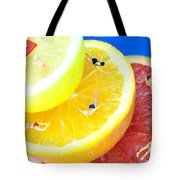 The Swimming Pool Little People On Food Tote Bag