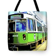 The T Trolley Car Boston Massachusetts 1990 Poster Tote Bag