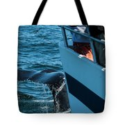 The Tail Of A Whale Right In Front Tote Bag