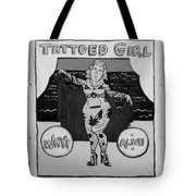 The Tattoed Girl In Black And White Tote Bag