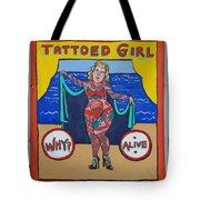 The Tattoed Girl Tote Bag