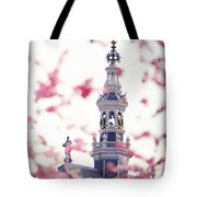 The Temple Bell Dies Away 1. Pink Spring In Amsterdam Tote Bag