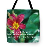The Temple Bell Tote Bag