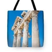 The Temple Of Apollo Tote Bag by Luis Alvarenga