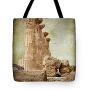 The Temple Of Heracles Tote Bag