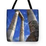 The Temple Of Hercules In The Citadel Amman Jordan Tote Bag by Robert Preston