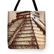 The Temple Of Kukulcan Chichen Itza   Tote Bag