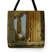The Temple Of Poseidon. Paestum Tote Bag