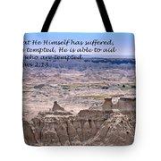 The Temptation Of Jesus Hebrews 2 18 Tote Bag