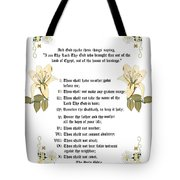 The Ten Commandments Tote Bag by Anne Norskog