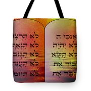 The Ten Commandments - Featured In Comfortable Art Group Tote Bag