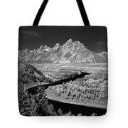 309217-the Teton Range From Snake River Overlook Tote Bag