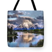 The Tetons From Oxbow Bend Tote Bag