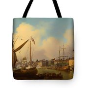 The Thames And Tower Of London On The King's Birthday Tote Bag
