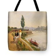The Thames At Hampton Court Tote Bag