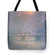 The Thames With Charing Cross Bridge Tote Bag