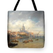 The Thames With Somerset House And St Pauls Cathedral Tote Bag