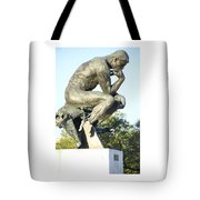 The Thinker Cleveland Art Statue Tote Bag