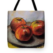 The Three Apples Tote Bag